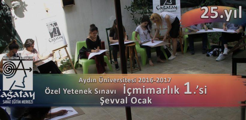 Aydın Üniversitesi Özel Yetenek Sınavları İç mimarlık 1.si Şeval Ocak
